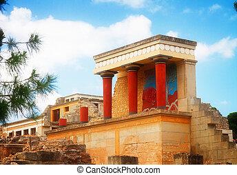 Knossos, Palácio, em, crete, Grécia