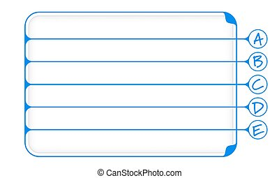 Simple blue boxes to fill your text and letters