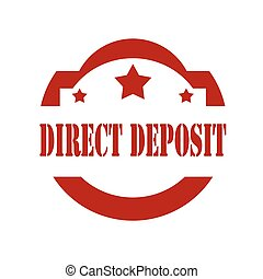 Direct Deposit-stamp - Red stamp with text Direct...