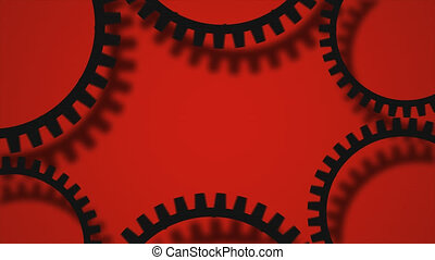 gears background video - Creative black gears background....
