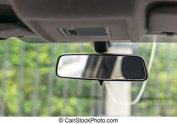 Rearview mirror inside the car