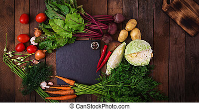 The main ingredients - vegetables for cooking borsch...