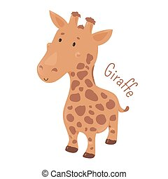 Giraffe isolated Child fun icon - Giraffe isolated Giraffa...