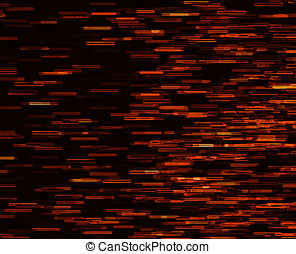 Square orange vivid 8-bit pixel dot interlaced space stars...