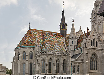 Matthias church in Buda Castle, Budapest, Hungary - Matthias...