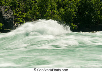 Niagara River at White Water Walk in Canada - Blurred motion...