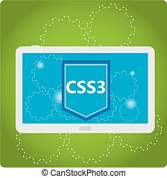Programming language, vector illustration - CSS3, web...