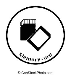 Memory card icon Vector illustration - Memory card icon Flat...
