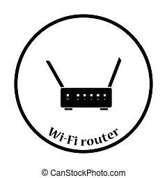 Wi-Fi router icon Vector illustration - Wi-Fi router icon...