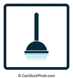 Plunger icon. Shadow reflection design. Vector illustration.