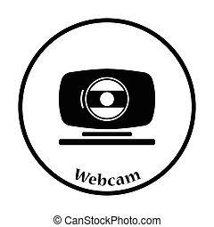 Webcam icon Vector illustration - Webcam icon Flat color...