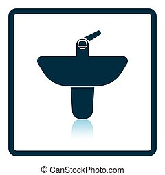 Wash basin icon. Shadow reflection design. Vector...