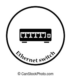 Ethernet switch icon Vector illustration - Ethernet switch...