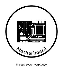 Motherboard icon Vector illustration - Motherboard icon Flat...