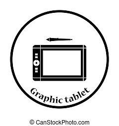 Graphic tablet icon Vector illustration - Graphic tablet...