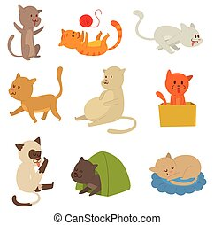 Cats vector set.