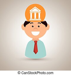 man justice idea isolated icon design, vector illustration...