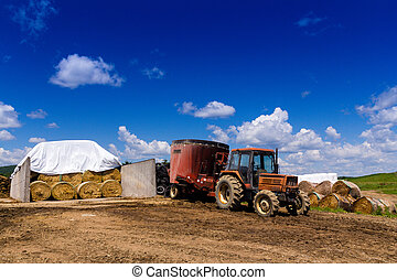farming tractor on land