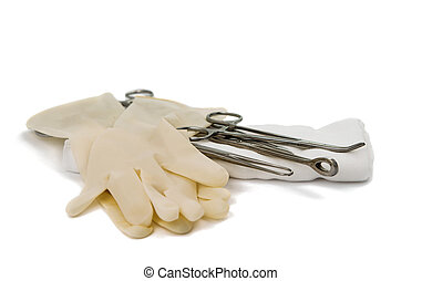 surgical instrument on a white background