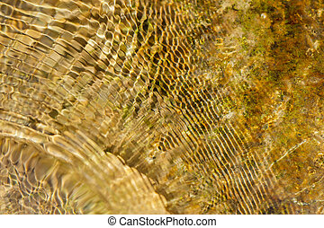 Abstract background of moving water - Crisscrossing bands of...