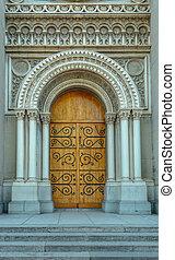 Church wooden door