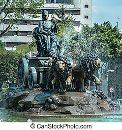 Cibeles fountain replica in Mexico City - Cibeles fountain...