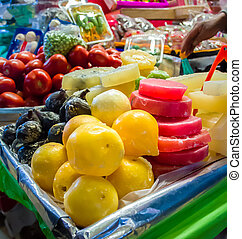 Market stall with candys in Coyoacan, Mexico City - Market...