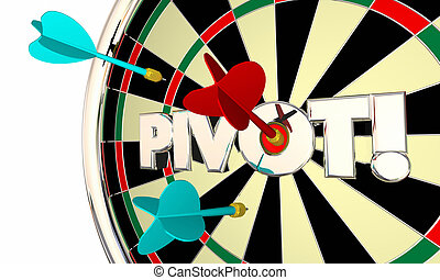 Pivot Dart Board Change Shift Business Model 3d Illustration