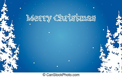 Flat backgrounds Merry Christmas spruce