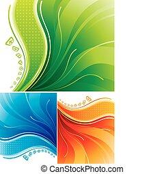 Digital Background - Set of digital background design....