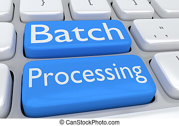 Batch Processing concept - 3D illustration of computer...