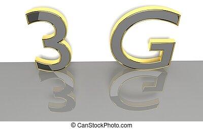3G 3d text