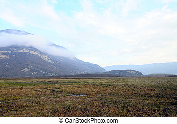 Moors and marsh in Savoy, France - landscape of Moors and...