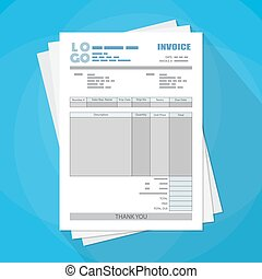 unfill paper invoice form tax receipt bill - Pack of unfill...