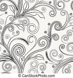 Seamless Floral Pattern - Seamless both side floral pattern...