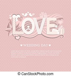 Banner wedding day. Wedding invitation card. Save the date...
