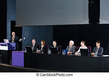 Politicians gathered to debate over crucial issues -...
