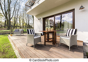 Cozy wooden porch perfect for relax - Big wooden cozy porch...