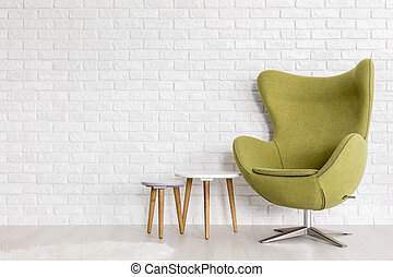 Cozy green accent