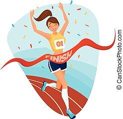 Winner Girl Design Concept - Winner girl design concept with...