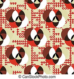 abstract geometric pattern in retro colors