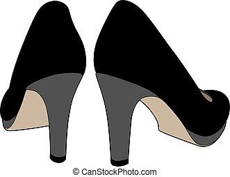 Black shoes back