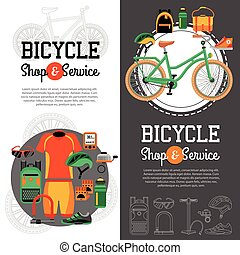 Mountain Biking Vertical Banners - Two vertical banners with...