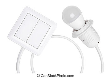 switch and light bulb - the switch and the led are connected...