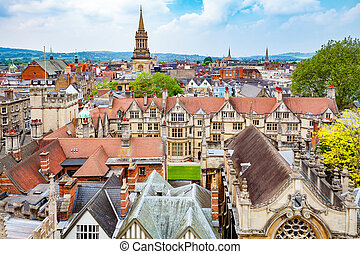 Oxford city England - Cityscape of Oxford Oxfordshire,...