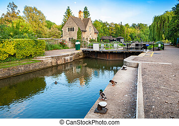 Iffley Lock Oxford, England - Iffley Lock on the River...