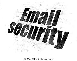 Safety concept: Email Security on Digital background -...