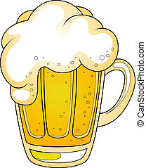 Mug of beer Vector illustration over white EPS 8, AI, JPEG