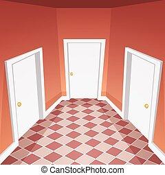 House Hallway - Cartoon vector illustration of the house...