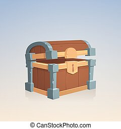 Empty Wooden Chest